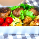 N's KITCHENお弁当レシピ:肉まきおむすび弁当完成