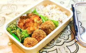 N's KITCHENお弁当レシピ:海老団子のフライ弁当完成