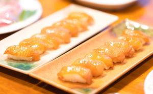 新たな味の世界 からしでいただく島寿司