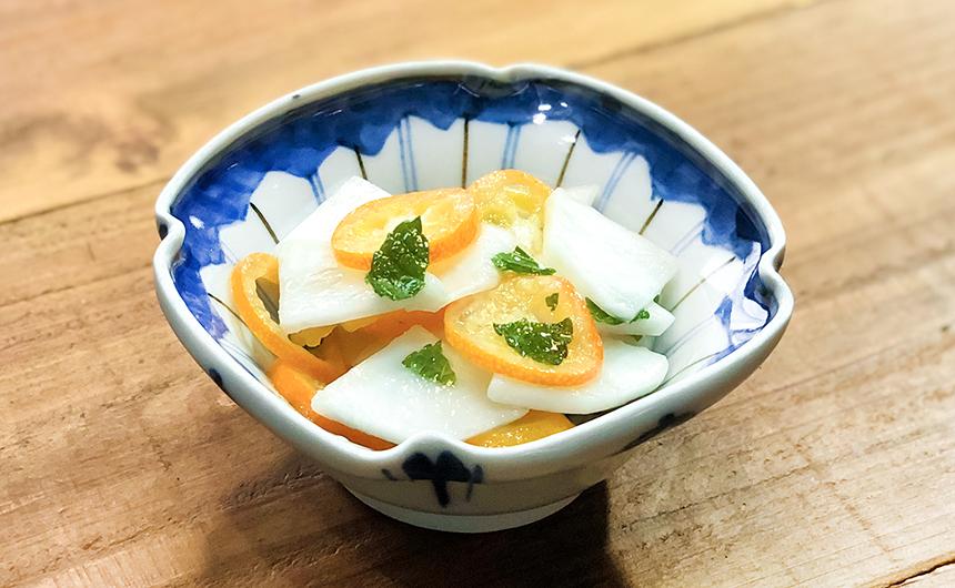 金柑とかぶのマリネ ミント風味