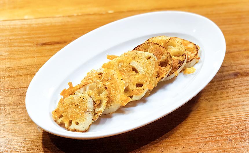 蓮根のカリカリチーズ焼き