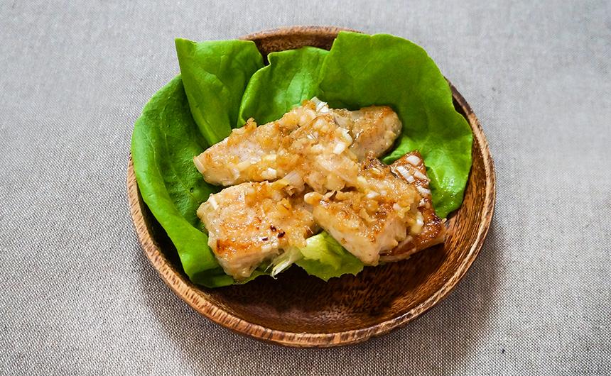 めかじきの味噌マヨ炒め