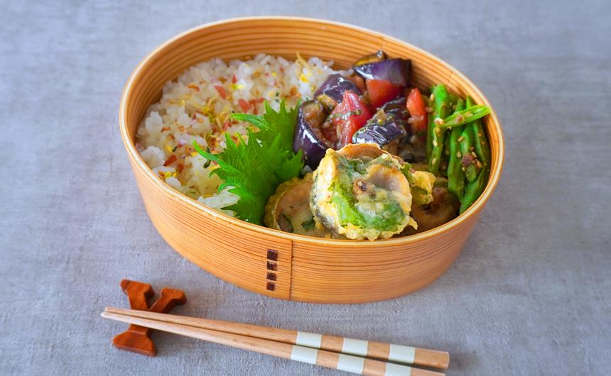 <span>夏バテ解消</span>イワシの天ぷら弁当