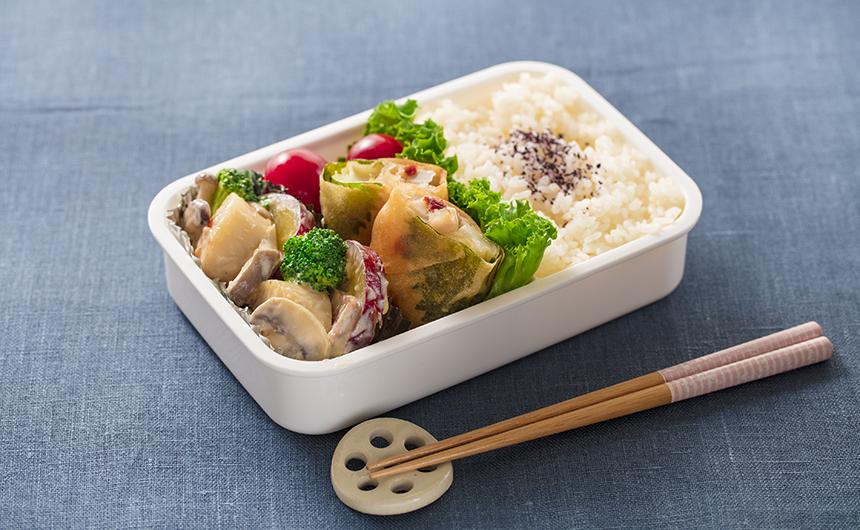 <span>免疫力UP</span>食物繊維豊富な秋野菜弁当
